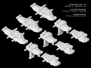 (Armada) SWTOR Fighter Set X in Smooth Fine Detail Plastic