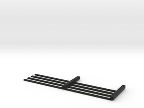 HO Scale 4 rail Fence MK.1 in Black Premium Versatile Plastic