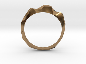 jagged ring in Natural Brass