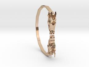 Geometric Dragon Bracelet in 14k Rose Gold