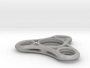 Tri Lobe Fidget Spinner - Micro Mini in Raw Aluminum