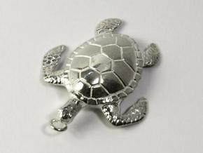 Pendant Turtle01 in Stainless Steel