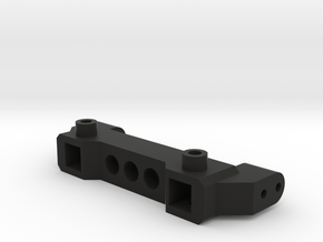 TRX4 Bumper Mount 11.5H ZeroV in Black Natural Versatile Plastic