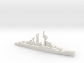 Salisbury-class frigate, 1/1800 in White Natural Versatile Plastic