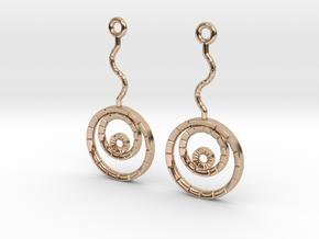 Orecchino Concentrico3 - Concentricity in 14k Rose Gold