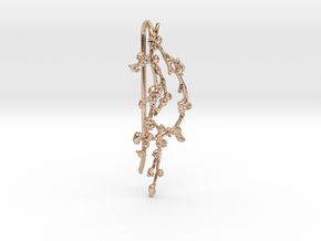 BRANCH_earrings_09_hook_RS in 14k Rose Gold Plated Brass