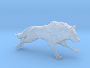 Wolf Running in Smooth Fine Detail Plastic