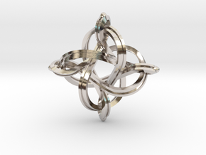 Premium infinity pendant 36mm in Rhodium Plated Brass