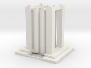 'HO Scale' - Wash Station - Double Unit in White Natural Versatile Plastic