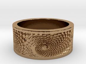 Swirlee Ring Women's Size 8.5 in Polished Brass
