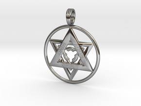 MIND, BODY, SPIRIT TRINITY in Fine Detail Polished Silver