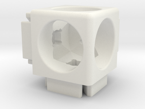 Corner Connector B6-20 in White Natural Versatile Plastic