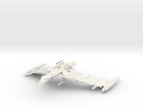 Romulan Winged Defender Class IIIV refit WarBird in White Natural Versatile Plastic