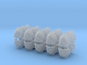Assault Squad Mk3 Shoulder Pads x30 in Smooth Fine Detail Plastic