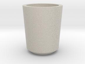 Shot glass Planter1 in Natural Sandstone