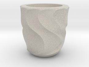 Shot Glass Planter2 in Natural Sandstone