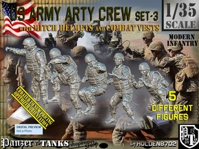 1/35 US Arty Crew Cold Weather Set3 in Smooth Fine Detail Plastic