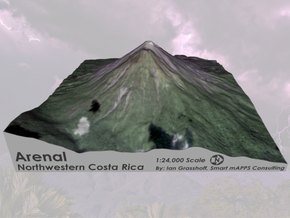 "Arenal Volcano, Costa Rica: 6"" in Full Color Sandstone"