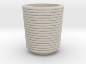 Shot glass Planter4 in Natural Sandstone