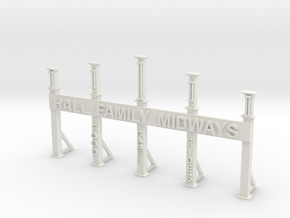 Hall Family Midways Entrance Gate  in White Natural Versatile Plastic