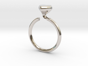 Flowing Heart Solitaire in Platinum: 5 / 49