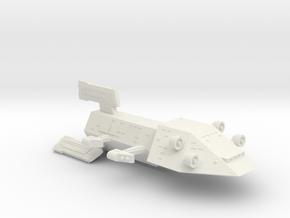 3125 Scale Kzinti Drone Cruiser SRZ in White Natural Versatile Plastic