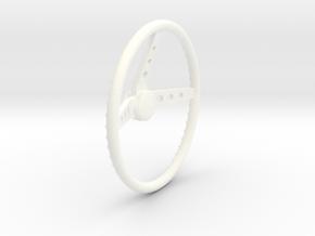 Mooneyes 1/12 steering_wheel in White Processed Versatile Plastic