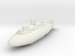 Airship Battlecruiser in White Natural Versatile Plastic