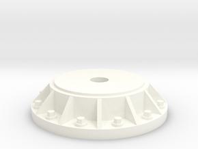 2cm Quad Flak MG38 Pedestal 1:35 in White Processed Versatile Plastic