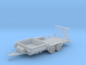 Dump Trailer Long Solid Bed 1-50 Scale in Smooth Fine Detail Plastic