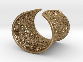 Flower Bracelet in Polished Gold Steel