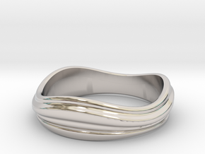 Ebb and Flow Ring No.2 - Size 7 in Platinum