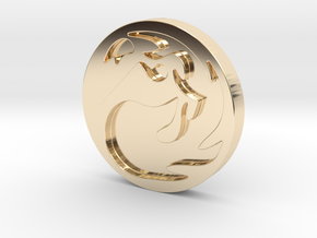 Mountain Token in 14K Yellow Gold