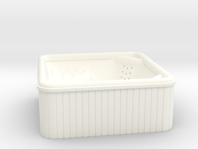 Jacuzzi - Outdoor Hot Tub (1:48 O scale) in White Processed Versatile Plastic