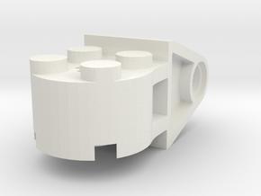 LANDING GEAR V2, 4 X 4 ROUND W-CLEVIS in White Natural Versatile Plastic