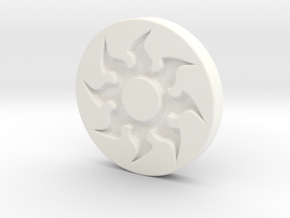 Plains Token in White Processed Versatile Plastic