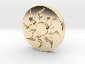 Plains Token in 14K Yellow Gold
