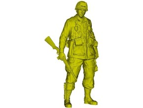 1/18 scale D-Day US Army 101 Airborne soldier in Smooth Fine Detail Plastic