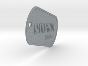 BF1 gamer dog tag in Polished Metallic Plastic
