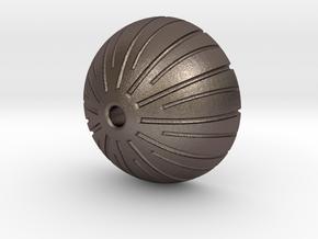 Acorn Bead in Polished Bronzed Silver Steel