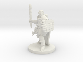 Male Human Druid with Lizard Totem in White Natural Versatile Plastic