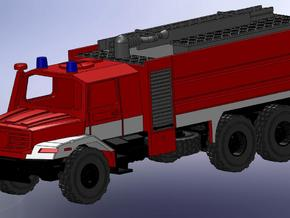 Zetros 6x6 Feuerwehr TFL 1:144 in Smooth Fine Detail Plastic