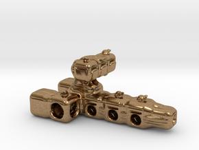 Multi-turret space-cruiser in Natural Brass