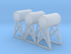 'N Scale' - Fuel Tanks (3) in Smooth Fine Detail Plastic