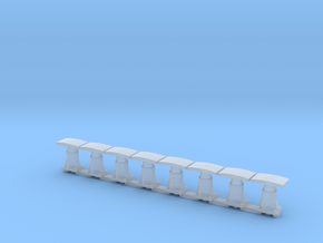 8 Buffers for CIE Container wagon in Smooth Fine Detail Plastic