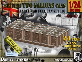 1/24 Two Gal Fuel Can Set102 in Smooth Fine Detail Plastic
