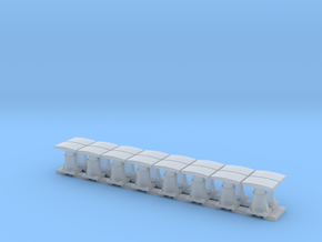16 Buffers for CIE Container Wagons in Smooth Fine Detail Plastic