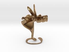 Hubb fee Salam (Love in Peace) - Sculpture in Natural Brass
