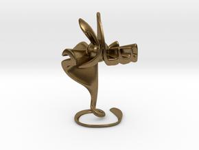 Hubb fee Salam (Love in Peace) - Sculpture in Natural Bronze