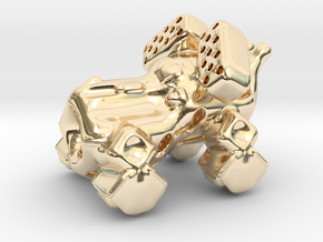 The intrepid cannon space-crawler! in 14k Gold Plated Brass